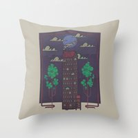 The Towering Bed And Bre… Throw Pillow