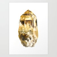 Raw Topaz Art Print
