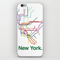 New York City Transit Ma… iPhone & iPod Skin