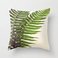 Ferns II Throw Pillow
