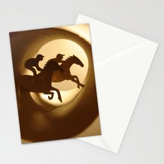 Horse racing (Courses hippiques) Stationery Cards