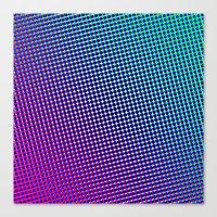 80's Grade Purple Canvas Print