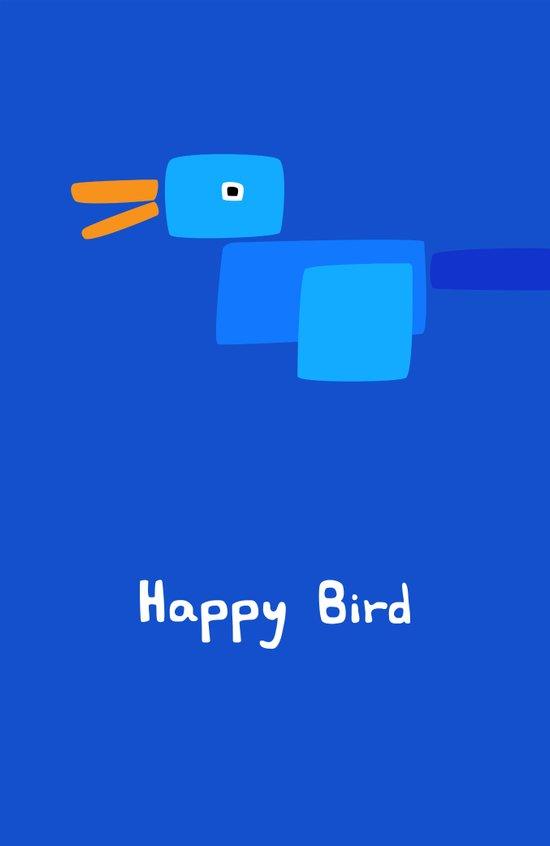 Happy Bird-Blue Canvas Print