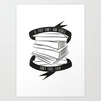 If They Don't Have Books... Art Print