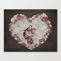 Heart of Roses Canvas Print