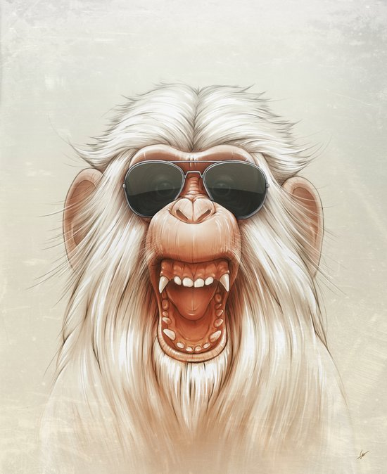 The Great White Angry Monkey Canvas Print