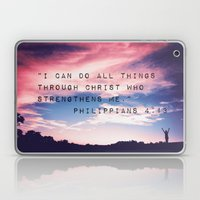 Philippians 4:13 in Nature Laptop & iPad Skin