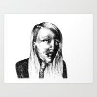 She Is Art Print