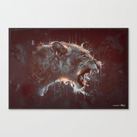 DARK LION Canvas Print