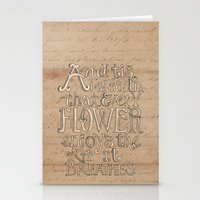 A Flower Breathes Stationery Cards