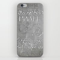 Chalkboard hand-lettered motivational quote iPhone & iPod Skin