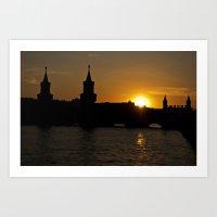 Sunset summer Berlin Art Print