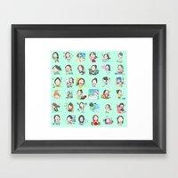 moonsia` Framed Art Print