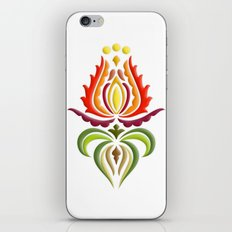 Fancy Mantle on White iPhone & iPod Skin
