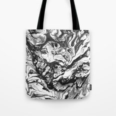 Black & White Marble Tote Bag