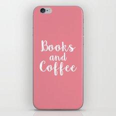 Books and Coffee iPhone & iPod Skin