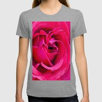 Rose Womens Fitted Tee Tri-Grey SMALL