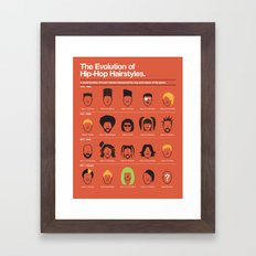 The Evolution Of Hip-Hop Hairstyles Framed Art Print