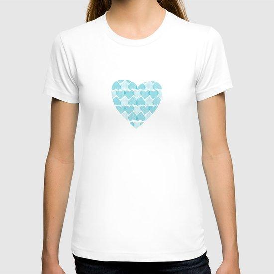 Blue, blue heart T-shirt