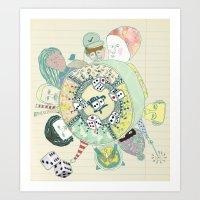GAMBLING DAY Art Print