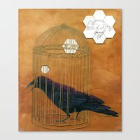 Caged Bird Canvas Print