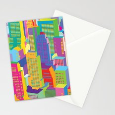 Cityscape windows Stationery Cards
