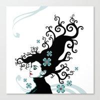 Audrey Hepburn Natural line Canvas Print