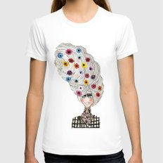 Flower Child Womens Fitted Tee White SMALL