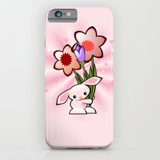 Little Pink Bunny With Flowers Slim Case iPhone 6s