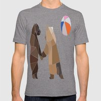 Puckish Bears Mens Fitted Tee Tri-Grey SMALL
