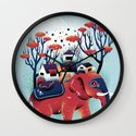 A Colorful Ride Wall Clock