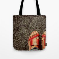Shoes on Cement Tote Bag