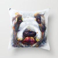 Sweet Panda Throw Pillow