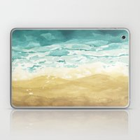 Minimalist Shore - Beach Painting Laptop & iPad Skin