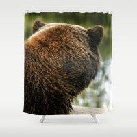 Going Fishing - Brown Bear  Shower Curtain