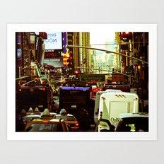 NEW YORK//TRAFFIC Art Print