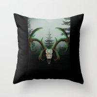 C-1 Horns Throw Pillow