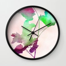 maple 2 watercolor by Jacqueline Madonado & Garima Dhawan Wall Clock