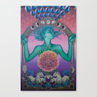 Canvas Print featuring The Gate Of Knowledge by Noa Knafo