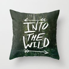 Into the Wild III Throw Pillow