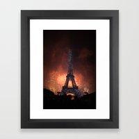 As France Celebrates Their Nation's Birthday Framed Art Print