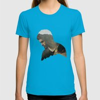Here And Now Womens Fitted Tee Teal SMALL