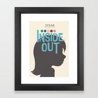 Inside Out - Minimal Mov… Framed Art Print