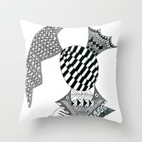 Fish Egg Creature Throw Pillow