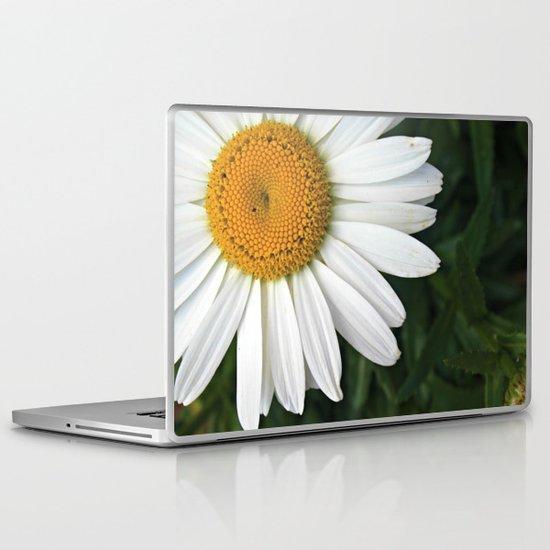 white & yellow Laptop & iPad Skin