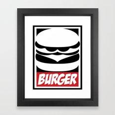 Obey Burger Framed Art Print