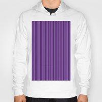 Purple Double Stripes Pattern Hoody