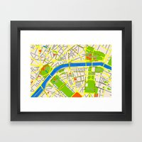 Paris map design Framed Art Print