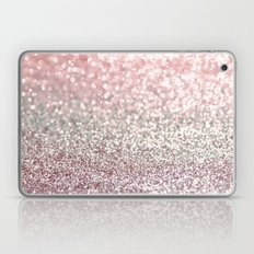 Girly Pink Snowfall Laptop & iPad Skin