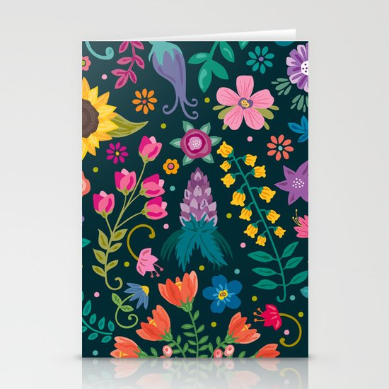 Floral Heart Stationery Card